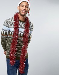 Asos Christmas Jumper With Vintage Design Green