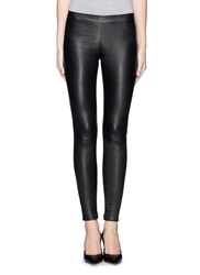 Vince Lamb Leather Leggings Black