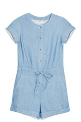 Paul And Joe Striped Playsuit Blue
