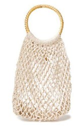 Kayu Woman Andie Crocheted Cotton Tote Stone
