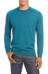 Men's Bugatchi Merino Wool Crewneck Sweater Teal