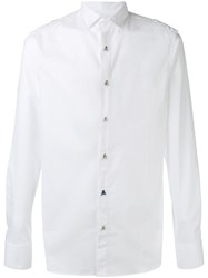 Philipp Plein Nice Man Shirt Men Cotton Spandex Elastane M White
