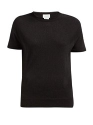 Lemaire Seamless Short Sleeve Knitted T Shirt Black