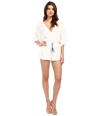 Brigitte Bailey Alexa Bell Sleeve Lace Romper White Women's Jumpsuit And Rompers One Piece