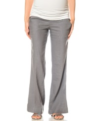 A Pea In The Pod Wide Leg Maternity Pants Gray