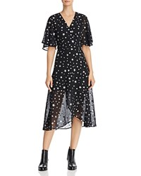 Re Named Starry Night Wrap Dress Black Silver