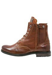 Sneaky Steve Kingdom Laceup Boots Cognac