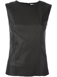 Helmut Lang Leather Tank Black