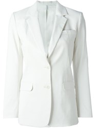 Helmut Lang Fitted Blazer Jacket White
