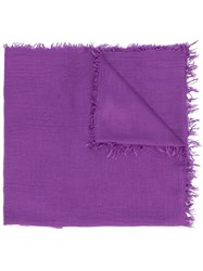 Fabiana Filippi Fringed Scarf Purple