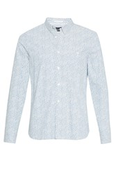 French Connection Men's Oxford Peach Floral Print Shirt Delft