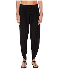 Laundry By Shelli Segal Drape Cover Up Pant Black Women's Swimwear
