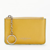 Liebeskind Berlin Davao Leather Coin Card Purse Amber Yellow