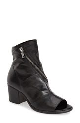 Summit By White Mountain 'Fantasia' Open Toe Bootie Women Black Leather