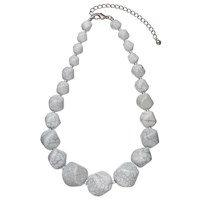 John Lewis Marble Bead Statement Necklace Grey