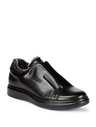 Karl Lagerfeld Laceless Leather Shoes Black