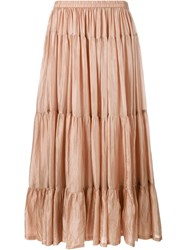 Mes Demoiselles Tabatha Silk Maxi Skirt Nude And Neutrals