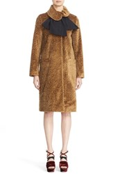 Isa Arfen Women's Asymmetrical Tie Collar Coat