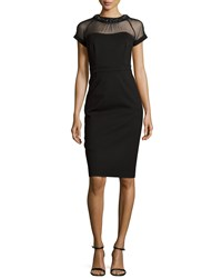 Laundry By Shelli Segal Embellished Neckline Dress Black