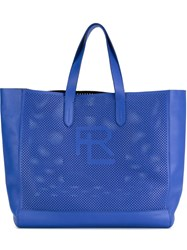 Ralph Lauren 'Perf Easy' Perforated Shopper Tote Bag Blue