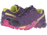 Salomon Speedcross 4 Cosmic Purple Deep Dalhia Gecko Green Women's Shoes