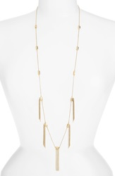 Melinda Maria 'Hallie' Fringe Necklace Gold