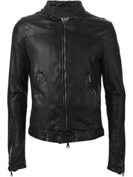 Giorgio Brato Zipped Leather Jacket Black