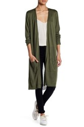 Joseph A Long Pocket Duster Cardigan Green