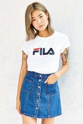 Fila Miss Eagle Logo Tee White