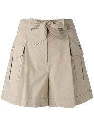 Boutique Moschino Cargo Pocket Shorts Nude Neutrals