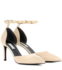 Balenciaga Leather Pumps Beige