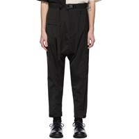 The Viridi Anne Black Panelled Cargo Pants