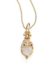 Temple St. Clair Tree Of Life Rock Crystal Diamond Sapphire And 18K Yellow Gold Owl Amulet