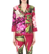 F.R.S. For Restless Sleepers Tropical Print Silk Shirt Green