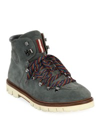 Bally Chack Suede Hiking Boots Gray