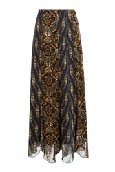 Anna Sui Printed Maxi Skirt Multicolor