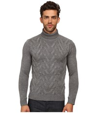 The Kooples Sport Cable Wool Turtleneck Sweater Grey Men's Sweater Gray