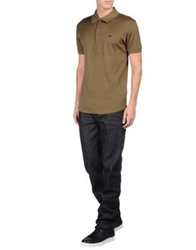 Adidas Slvr Polo Shirts Military Green