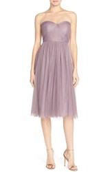 Women's Jenny Yoo 'Maia' Convertible Tulle Tea Length Fit And Flare Dress Lilac