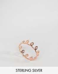 Asos Rose Gold Plated Sterling Silver Swirl Ring Rose Gold Copper