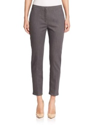 Piazza Sempione Laura Slim Denim Ankle Pants Grey