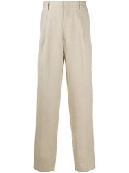Msgm Pleated Front Straight Leg Trousers 60