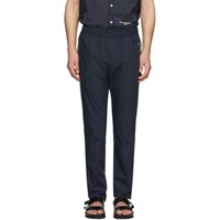 Stella Mccartney Navy And Beige Contrast Piet Trousers