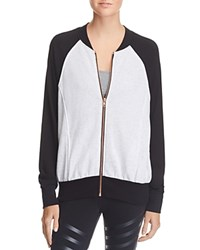 Terez Color Block Bomber Jacket Ash Black