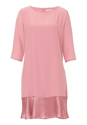 Vera Mont Dress With Satin Hemline Pink