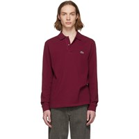 Lacoste Burgundy Classic Long Sleeve Polo