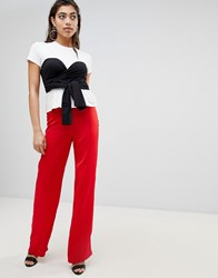 Ivyrevel Wide Leg Trousers With Knot Detail At Waist Hot Red