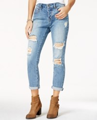American Rag Ripped Santa Cruz Wash Girlfriend Jeans Only At Macy's