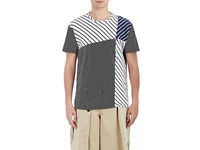 Loewe Men's Mixed Stripe Cotton T Shirt No Color