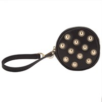 Michael Michael Kors Studded Leather Small Coin Purse Black
